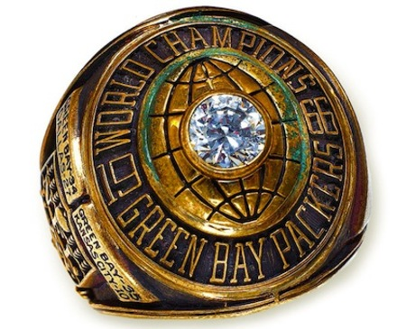 Medium 5 green bay packers 1967 super bowl i championship ring